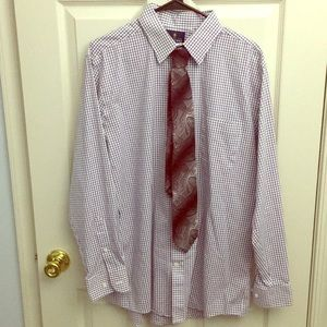 Stafford dress shirt and tie